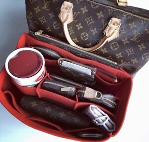 BRAND NEW Louis Vuitton SPEEDY 30 Red BAG ORGANIZER