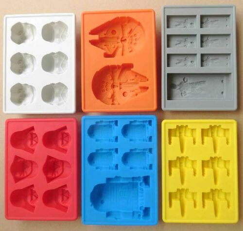 DIY Silicone Star Wars Ice Maker Cube Tray Mold Cocktail Whiskey Chocolate Mould Bar Tools & Accessories