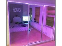 💖👌 STRUDY QUALITY 2 / 3 DOORS SLIDING WARDROBES WITH FULL MIRRORS, SHELVES, RAILS FAST DELIVERY