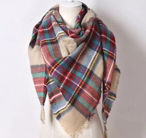 SOFT PLAID BLANKET SCARF-EXCELLENT CONDITION!