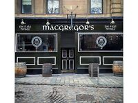 Part time Bartender MacGregors Pie & Ale Howff