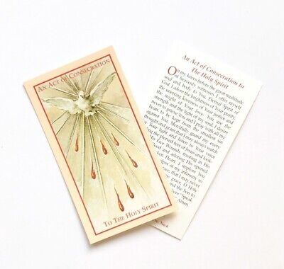 CONSECRATION TO THE HOLY SPIRIT Prayer Card