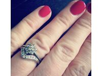 Wedding and engagement rings white gold 18ct
