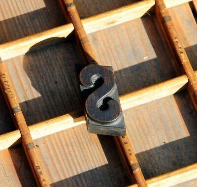 Vintage wood block Letter J letterpress typeset stamping print block rustic