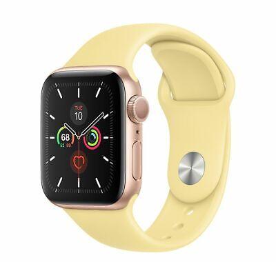 Apple Watch Series 1 38mm Rose Gold Aluminium Case YELLOW Sport Band