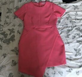 Definitions wrap dress in hot pink