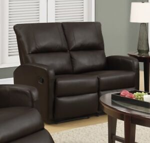 brand new leather love seat recliner