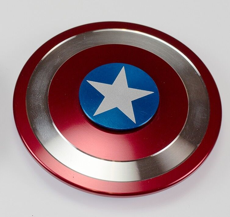 Captain America Shield  Fidget Hand Spinner Toy Focus ADHD Autism