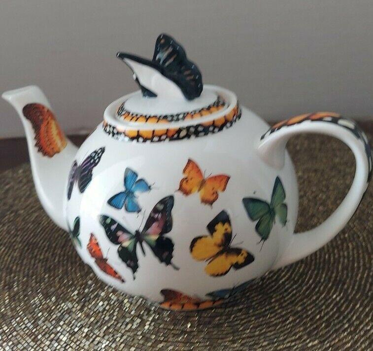Paul Cardew 1st Butterflies Teapot tea for 1, porcelain