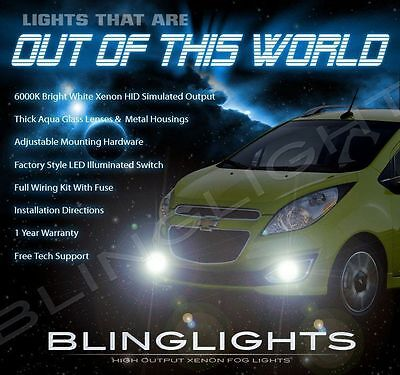 Chevrolet Spark Xenon Halogen Fog Lamps Driving Light Kit + Harness Relay Switch
