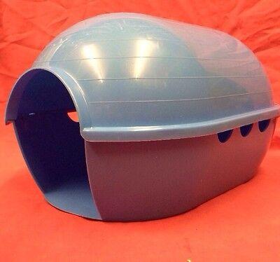 "2 x DWARF QUAIL House Blue Plastic 12 x 8"" Baby Chicks Bantam Poultry Waterfowl"
