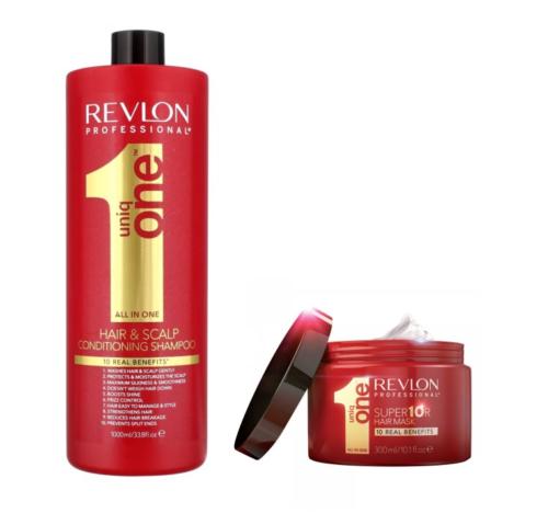 Revlon Uniq 1 All In One Conditioning Shampoo 1000ml and Hai