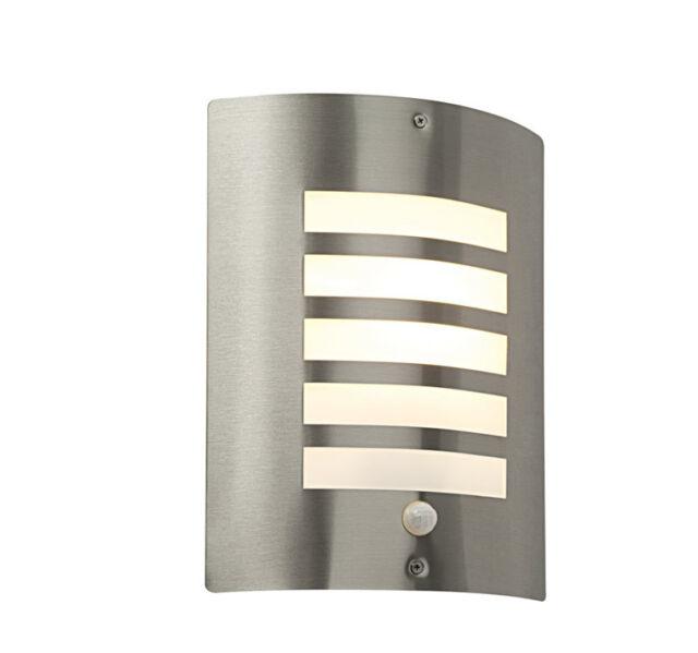Saxby Bianco ST031FPIR outdoor stainless steel wall light PIR motion sensor IP44