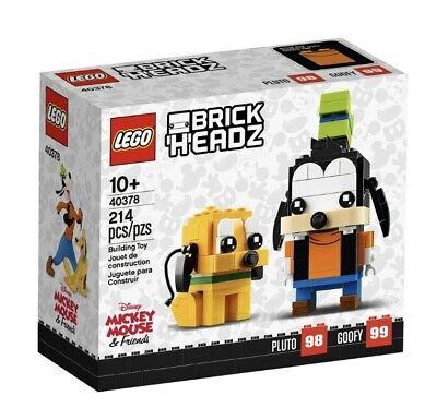 LEGO Disney Brick Headz 40378 Pluto Goofy NEW! Sealed Box! 214 pcs
