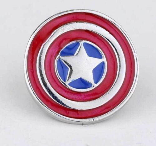 "Captain America Shield Metal hat Pin .75"" hat pin cap jacket marvel comics USA"