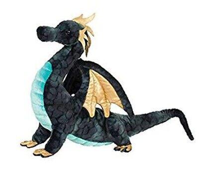 16 Inch Aragon Blue Dragon Plush Stuffed Animal by Douglas