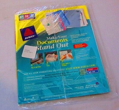 Avery Translucent Clear Label Index Maker Presentation Dividers 11452 Avery Index Maker Translucent Dividers