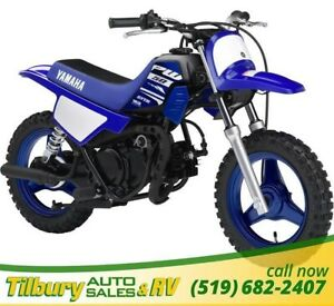 "2018 Yamaha PW50 49cc engine, 485mm (19.1"") seat height"