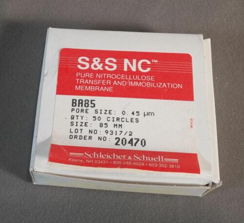 S&S Nitrocellulose Membrane Filters 50 Circles 85mm Grade BA85 Pore Size 0.45µm