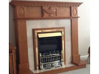 Electric fire & surround in perfect condition