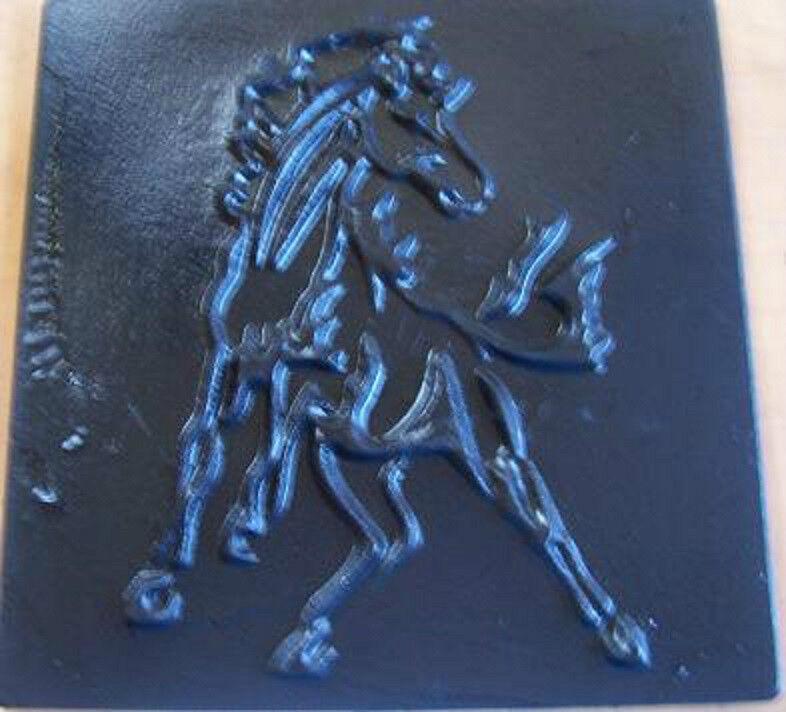 "Concrete Cement  Horse Stallion 11"" Stamp Texture Mat Inlay BORDER ART New"