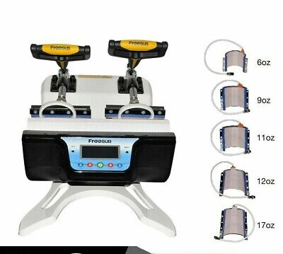 Mug Press Machines Heat Sublimation Printers Combo Double Station Printing Tools