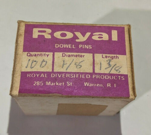 """Pack of 100 - 1/8"""" x 1-3/8"""" Royal Dowel Pins Alloy Steel"""