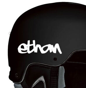 2x Personalized Custom Name Decal Bike Motorcycle Snowboarding Helmet Stickers