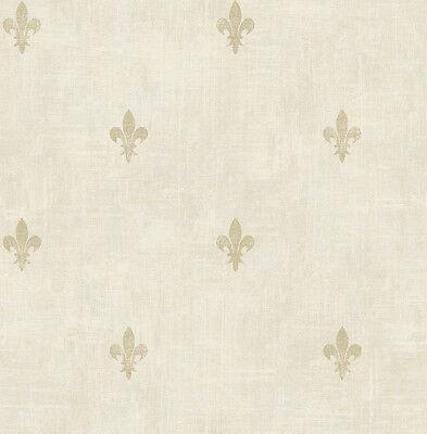 Kleine Sackleinen Säcke (Tapete, Designtapete, Sackleinen, kleine, florale Motive, Schimmer, Sand, Gold)
