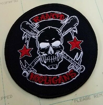RANCID COLLECTABLE RARE VINTAGE PATCH EMBROIDED EARLY 2000'S METAL PUNK LIVE