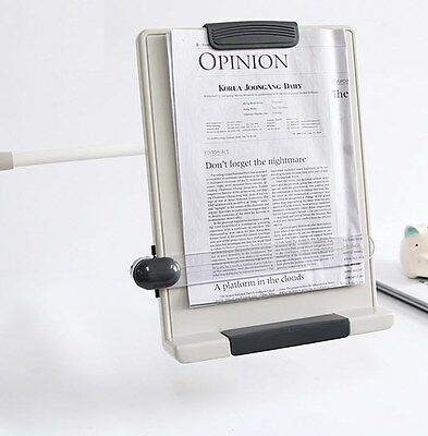 Desk Top Book Document Reading Stand Flex Arm Book Copy Holder Clamp Type Bch-07