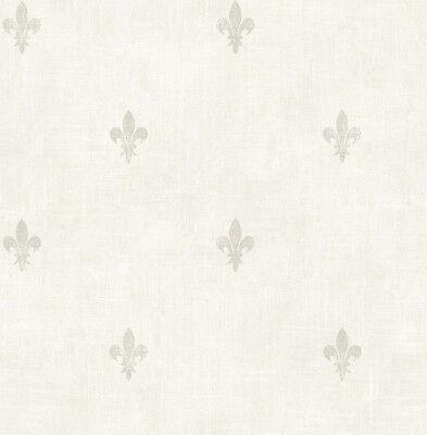 Kleine Sackleinen Säcke (Tapete, Designtapete, Sackleinen, kleine, florale Motive, Schimmer, Elfenbein)