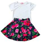 !SALE! Outfit Floral (92 98 104 110 116 122 128 Rok Top Set)