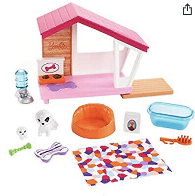 Barbie Ken Puppies and Dog House Furniture Set FXG34