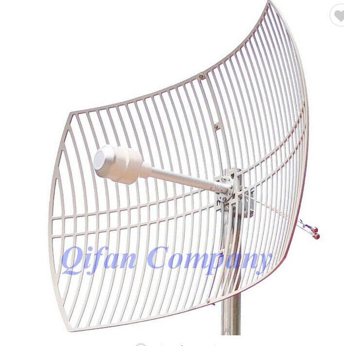 3G 4G LTE Parabolic Grid antenna 1700-2700MHz Outdoor Antenna 2X24dBi External