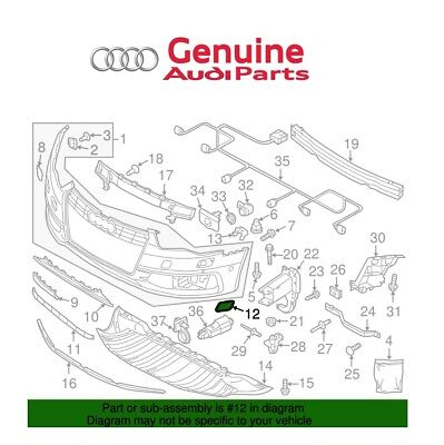 For Audi S6 A6 Quattro Front Driver Left Headlamp Wash Cap Genuine 4G0955275BGRU