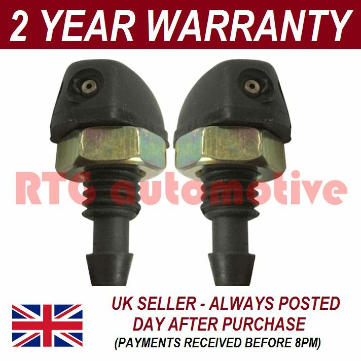 PAIR UNIVERSAL WINDSCREEN WASHER TWIN JET STRAIGHT INLET SCREW FITTING 4MM WWY10