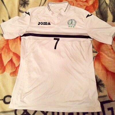 Turkmenistan National Football Team Jersey  match issued  umbro 2016 white Asia  image