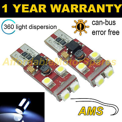 2X W5W T10 501 Canbus sin Errores Blanco 6 SMD LED Bombillas...