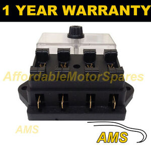 new 4 way universal standard 12v 12 volt atc blade fuse box cover camper van ebay. Black Bedroom Furniture Sets. Home Design Ideas