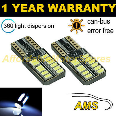 2X W5W T10 501 Canbus sin Errores Blanco 24 SMD LED Bombillas...