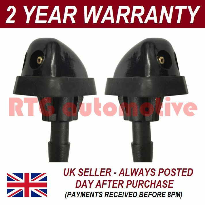 PAIR UNIVERSAL WINDSCREEN WASHER TWIN JET EASY ADJUST JETS PUSH FITTING WWY15