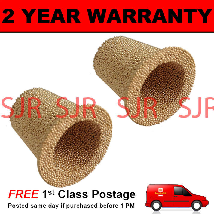 2X SPARE ELEMENT FOR ALUMINIUM IN LINE FUEL FILTER FITS SIZES 1/4