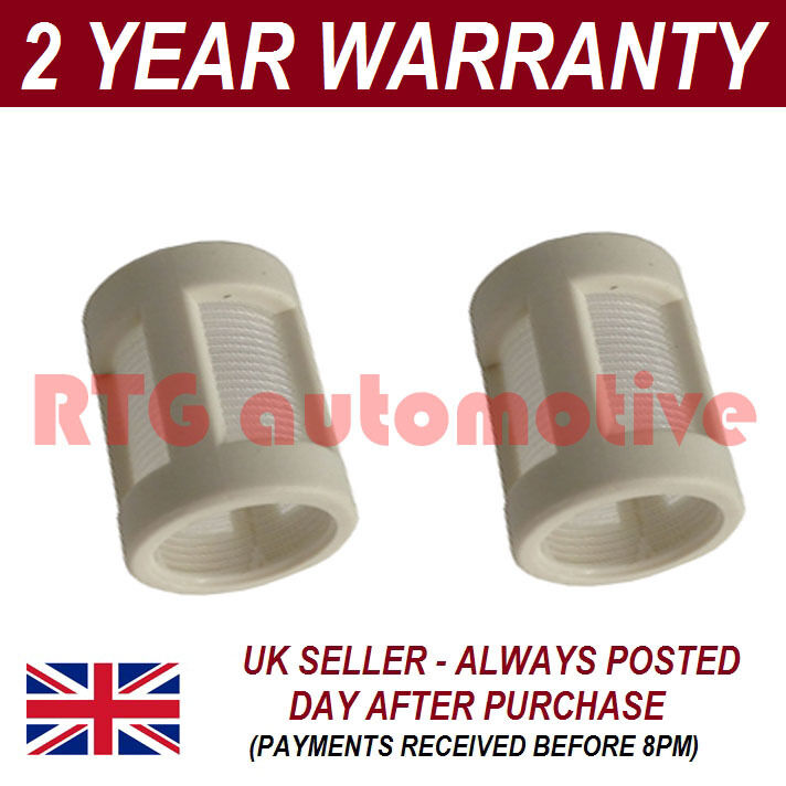 2X SPARE ELEMENT FOR SMALL GLASS IN LINE FUEL FILTER FITS SIZES 1/4