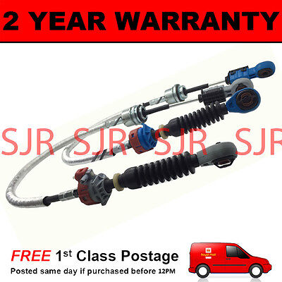 FORD TRANSIT MK6 2000-2006 2.0 FWD DIESEL GEAR SELECTOR CABLES PAIR GREY BLUE