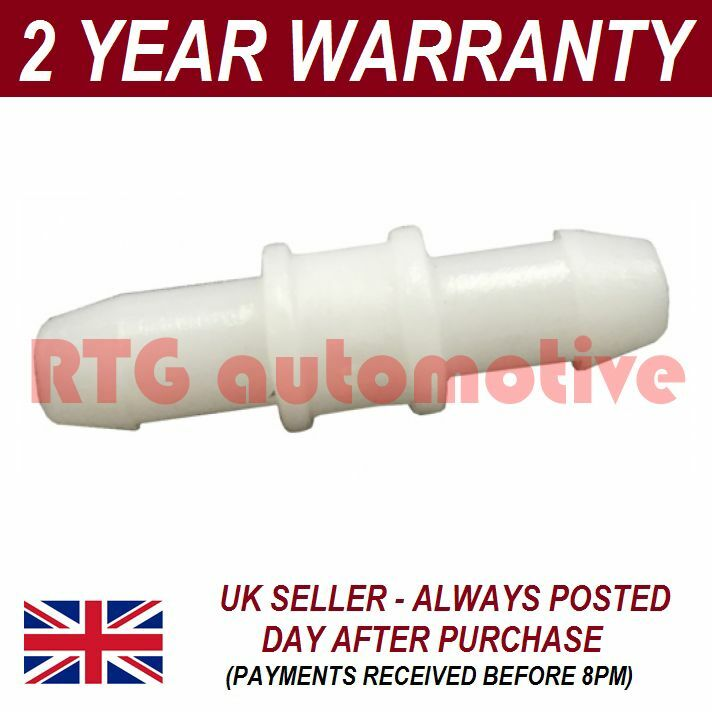 UNIVERSAL WINDSCREEN WASHER SCREENWASH IN LINE PIPE JOINER CONNECTOR 4MM WWY24