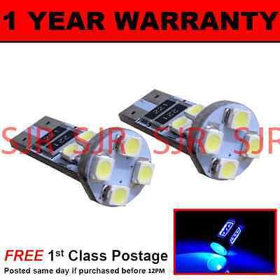 W5W T10 501 CANBUS ERROR FREE BLUE 8 LED SIDELIGHT SIDE LIGHT BULBS X2 SL101602