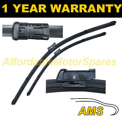 FOR PEUGEOT 308 CC 2009 ON DIRECT FIT FRONT AERO WIPER BLADES PAIR 30