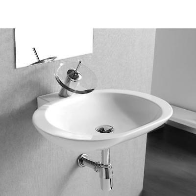 Kreamik Waschtisch Hängende Waschbecken Handwaschbecken Wandmontage 59cm 4555