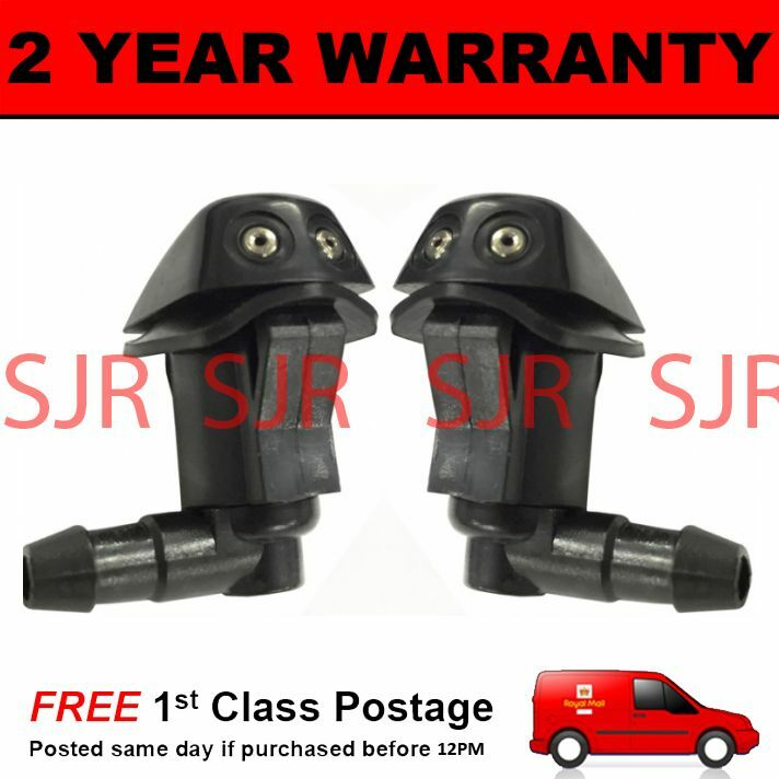 PAIR UNIVERSAL WINDSCREEN WASHER TWIN JET STRAIGHT INLET PUSH FITTING 4MM WWY3